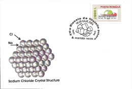 CHEMISTRY, SODIUM CHLORIDE CRYSTAL STRUCTURE, SPECIAL COVER, 2004, ROMANIA - Chemistry