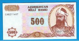 AZERBAIJAN - AZERBAIYAN - 500  Manat   ND  SC  P-19 - Arzerbaiyán