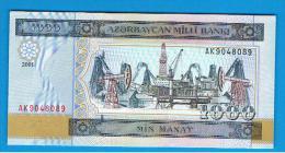 AZERBAIJAN - AZERBAIYAN - 1000  Manat   2001  SC  P-23 - Arzerbaiyán
