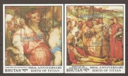 PINTURA - BHUTAN 1989 - Yvert #H175/76 - MNH ** - Religión