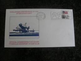 SP191b- FDC - USA-1983- Challenger Arrives Back At KSC After STS-8 Flight -postamerk Kennedy Space Center - Estados Unidos