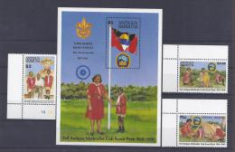 SCOUTS - ANTIGUA 1991 - Yvert #1379/81+H210 - MNH ** - Movimiento Scout