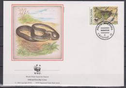 Modova, Moldovia, 1993, WWF, Snakes, 4 FDC´s - Slangen