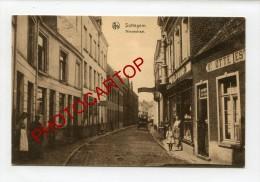 ZOTTEGEM-Nieuwstraat-Commerces-Animation-Periode Guerre 14-18-1 WK-BELGIQUE-BELGIEN-Feldpost-1918- - Aalst