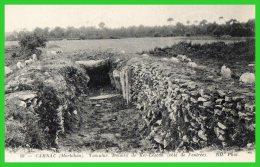 -CARNAC- Tumulus - Dolmen De Kér-Lescan (côté De L'entrée)...(recto Verso) - Dolmen & Menhirs