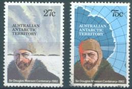AUSTRILIAN ANTARCTIC TERRITORY - 1982 - USED/OBLIT. - MAWSON -  Yv 53-54  - Lot 7964 - Non Classés