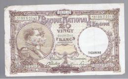 BELGICA -  20 Francs  3/01/44  P-111 - Belgium