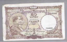BELGICA -  20 Francs  8/11/44  P-111 - Bélgica