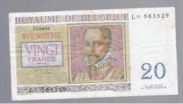 BELGICA -  20 Francs  1956  P-132 Serie L - Bélgica