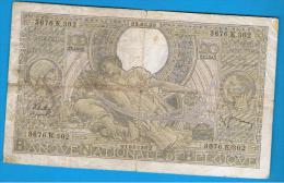 BELGICA -   100 Francs / 20 Belgas 1938 - Bélgica