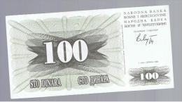 BOSNIA - 100  Dinara 1992 SC  P-13 - Bosnia Y Herzegovina