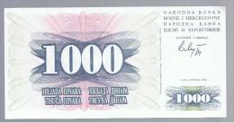 BOSNIA - 1000  Dinara 1992 SC  P-15 - Bosnia Y Herzegovina