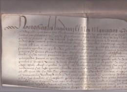 Parchemin, 1497, Juridiction De Lyon, Contrat Notarié En Latin  ( Port Offert, Free Shipping ) - Manuscrits
