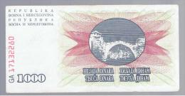 BOSNIA - 1000  Dinara 1992 Circulado  P-15 - Bosnia Y Herzegovina