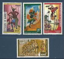 "Dahomey YT 348 à 351 "" Danses, 4 TP "" 1975 Neuf** - Benin - Dahomey (1960-...)"