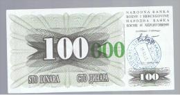 BOSNIA - 100.000  Dinara 1993 SC  P-56 - Bosnia Y Herzegovina
