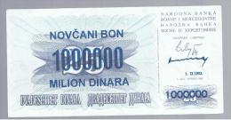 BOSNIA - 1.000.000  Dinara 1993 SC  P-35 - Bosnia Y Herzegovina