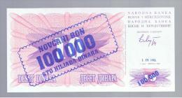 BOSNIA - 100.000  Dinara 1/09/93  P-34 - Bosnia Y Herzegovina