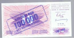BOSNIA - 100.000  Dinara 10/11/93  P-34 - Bosnia Y Herzegovina