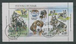 SWEDEN 1989 DOGS PANE USED - Usati