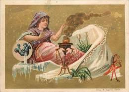 Chromos Réf. C237. Marius Déchenaud, Paris - Signe Astrologique; Du Zodiaque - Verseau, Femme, Feu - Chromos