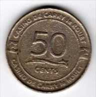 Jeton De Machine à Sous : Casino De Carry Le Rouet 50 Cents - Casino
