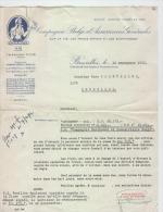 AG Lettre De Suite Judiciaire Pour Défaut De Prime Cie Marchande Et Industrielle Belge 1952 - Banque & Assurance