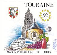BLOC CNEP TOURAINE 92 + Signature De L´auteur Raphael Thierry - CNEP