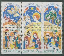 SWEDEN 1988 CHRISTMAS  PANE USED - Usati