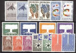 1957 EUROPA CEPT - ANNATA COMPLETA -  YEAR COMPLETE SET -  MNH ** - Europa-CEPT
