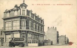 59 - BRAY-DUNES - LE MODERN-HOTEL SUR LA PLAGE - CAMION DE LIVRAISON DES NOUVELLES GALERIES, DUNKERQUE - France