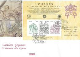 1982. VATICAN  COVER , CALENDARIO GREGORIANO, IV. CENTURY OF REFORMS - Covers & Documents