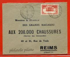 MARTINIQUE LETTRE DE 1934 DE DUCOS POUR REIMS FRANCE - Martinique (1886-1947)