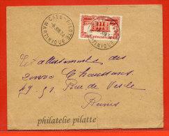 MARTINIQUE LETTRE DE 1934 DE CASE PILOTE POUR REIMS FRANCE - Martinique (1886-1947)