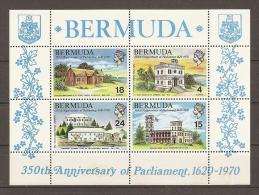 BERMUDA 1970 - 350 ANNIVERSARY Of PARLIAMENT - Yvert #H1 - MNH ** - Bermudas