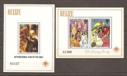 INFANCIA - BELICE 1980 - Yvert #H17/18 - MNH ** - Infancia & Juventud