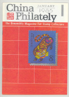 China Philately Magazine Nr. 1 January 1986 - Timbres