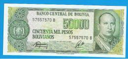 BOLIVIA - 50.000 Pesos Bolivianos 1984 SC  P-170 - Bolivia