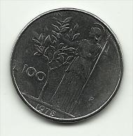 1978 - Italia 100 Lire, - 1946-… : Repubblica