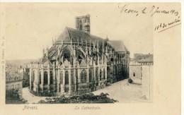 CP, 58, Nevers, La Cathédrale, Dos Simple, Ecrite En 1903 - Nevers