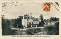 CP, 86, Marçay, Château Du Bierçon (Façade De L'arrive Au Sud-Est, Voyagé En 1914 - France