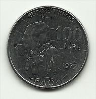 1979 - Italia 100 Lire F.A.O., - 1946-… : Repubblica