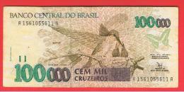 BRASIL - 100.000  Cruzeiros  ND   P-235 - Brazil