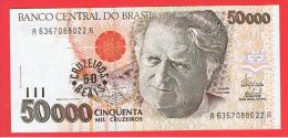 BRASIL -  50 Cruzeiros Reais / 50.000 Cruzeiros ND  P-237 - Brazil