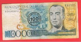 BRASIL -  100 Cruzados /  10.000 Cruzeiros  ND  P208 - Brazil