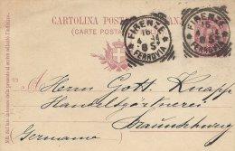 Italy   Postal Stationery  Sent To Germany.  # 669 # - Italy