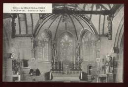 Cpa Du 22  Environs De Belle Isle En Terre Locquenvel  Intérieur De L' église   ...  édition Hamon Guingamp      PLES14 - France