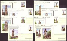 2000 TURKEY CLOCK TOWERS - (9x) POSTCARDS SET - Uhrmacherei