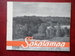 Sakalamaa - Viljandi District - Mini Travel Photo Book  - 32 Pages - 1965 - Estonia USSR - Livres, BD, Revues