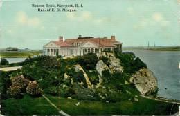 Réf : BO-13-347 : Beacon Rock Newport R.I. Res Of E.D. Morgan - Newport